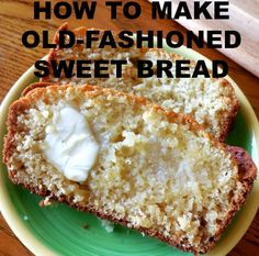 This Old-Fashioned Sweet Bread is a recipe your grandmother probably enjoyed years ago. Sweet Bread is very versatile and easy to make.