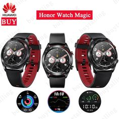 Original Huawei Honor Watch Magic Outdoor Smart Watch Sleek Slim Long Battery Life Support GPS NFC Coach Amoled Color Watch Review Womens Dress Suits, Fitness Tracker, Casio Watch, Smart Watch, Magic, Slim, Watches, The Originals, Smartwatch
