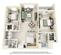 Fantastic Studio, 1, 2 & 3 Bedroom Apartments in Wilsonville, OR   Floor Plans