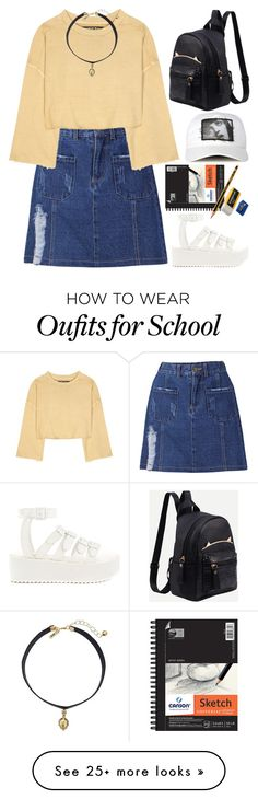 """""""Back to school"""" by evil-maknae on Polyvore featuring adidas Originals, Y.R.U., Vanessa Mooney, BackToSchool, kpop, koreanstyle and polyvorecontest"""