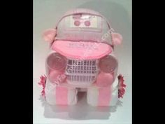 Baby shower gift ideas-Unique Diaper Cakes-centerpieces - YouTube