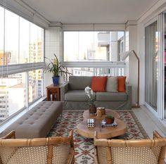Elegant enclosed balcony