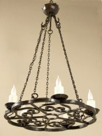 Antique French Wrought Iron Chandelier   Antique Chandeliers   Inessa ...                                                                                                                                                                                 Más