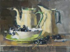 Maggie Siner, 'Grapes & Yellow/Green', 16 x 22, Oil on Linen