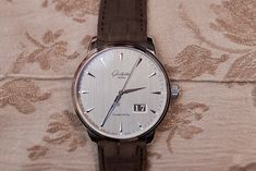 Glashütte Original Senator Excellence Panorama Date, galvanised silver grey dial Glashutte Original, Two By Two, White Gold, The Originals, Grey, Silver, Accessories, Ash, Gray