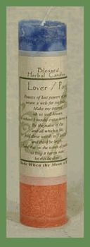 Blessed Herbal Candle - Lover-Pan - pagan wiccan witchcraft magick ritual supplies