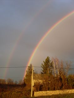 Two rainbows over my village [2304x3072]