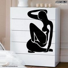 Wall decal PICASSO STYLE WOMAN Silhouette body surface graphics by Decals Murals. $29.00, via Etsy.
