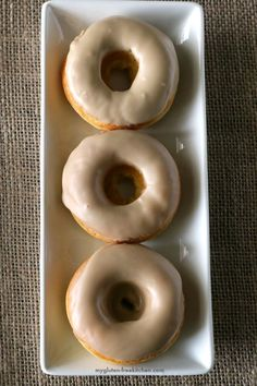 Maple Donuts that are gluten-free and dairy-free! This is the recipe you've been waiting for! Soft and doughy doughnuts!