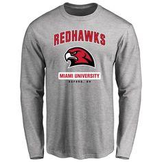 Miami University RedHawks Big & Tall Campus Icon Long Sleeve T-Shirt - Ash