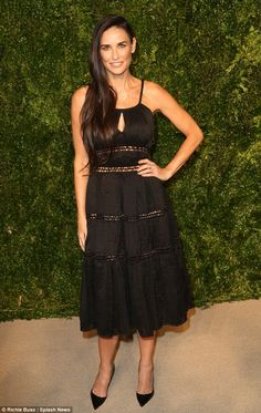6d5effeddeba Flawless in her Fities: Demi Moore scintillated as she hit the red carpet  at the