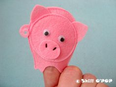 Educational felt finger puppets for nursery and counting rhymes  This Little Piggy PDF pattern