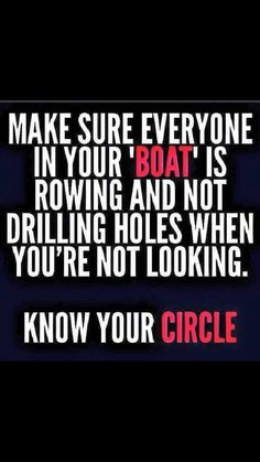 Keep your circle small.