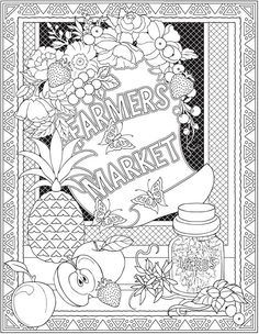 Welcome To Dover Publications From Creative Haven Farmers Market Designs Coloring Book