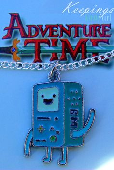 Adventure Time BMO silver necklace