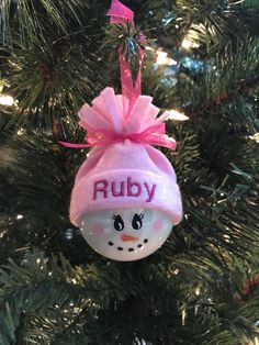 Hand Painted Wooden Santa Ornaments All Letters Available Christmas Holiday Snowman Christmas Decorations, Christmas Ornaments To Make, Christmas Snowman, Christmas Projects, Handmade Christmas, Holiday Crafts, Christmas Crafts, Santa Ornaments, Baby First Christmas Ornament