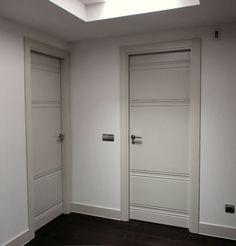 Puerta a medida acabada en laminado de alta presi n con for Puertas minguela