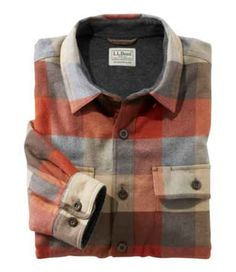 Men's Fleece-Lined Flannel Shirt, Traditional Fit Garment washed and brushed cotton flannel. polyester fleece lining. Additional Features Two side and chest pockets hold your valuables. Fleece Lined Flannel Shirt, Mens Flannel, Mens Fleece, Flannel Shirts, Men's Shirts And Tops, Casual Shirts, Cozy Cloud, Plaid Shirt Outfits, Mens Sherpa