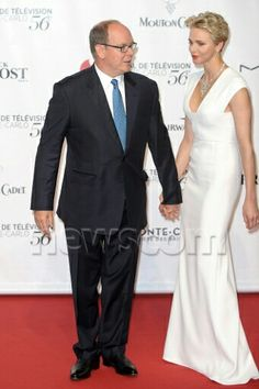 Prince Albert and Princess Charlene attend the opening ceremony of the 56th Television festival of Monte Carlo