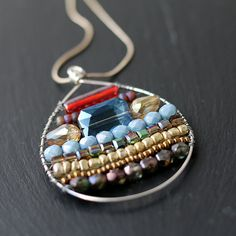 Beadwork Pendant by AlixHDesigns on Etsy