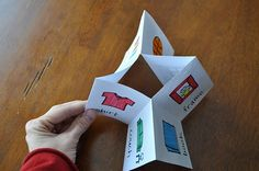 How to make Little Books using 1 piece of paper--great SS idea