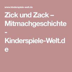 Zick und Zack – Mitmachgeschichte - Kinderspiele-Welt.de