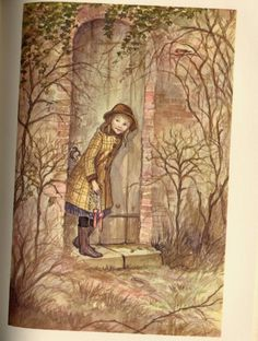 This is a lovely edition of Frances Hodgson Burnett's The Secret Garden with Pictures by Tasha Tudor. Published by J.B. Lippincott Company in 1962.