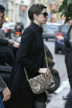 96986a997b98 Anne Hathaway carrying our Summer Bailey Boo cross body bag.