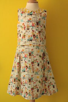 Awesome michael miller fabric hand-made dress