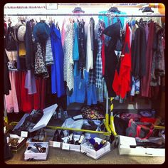 #Clothes rack #backstage at Macys, St Louis Galleria for Putting it all Together. #shoes #crazy @ApricotLane StLouis-Galleria @Brooks Brothers @The Limited @Tommy Bahama @Ann Taylor @Love Chico's @Lucky Brand @Urban Outfitters