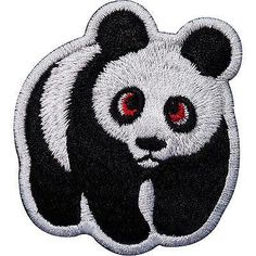Panda Embroidered Iron / Sew On Patch Clothes Jacket T Shirt Jeans Bag WWF Badge Size 5.9 cm Width and 5.9 cm Height. How to Iron on a Patch Lay your cloth on a