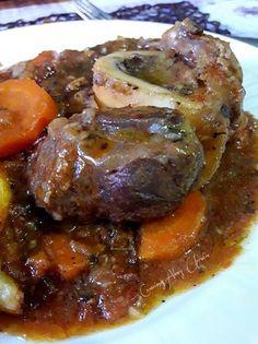 Ossobuco de ternera al estilo italiano y algunos toques míos Pork, Milanesa, Beef, Cooking, Natural Remedies, Canela, One Pot Dinners, Easy Food Recipes, Delicious Food