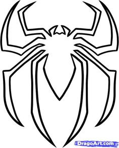 Easy superhero Spiderman pumkin carving pattern templates download