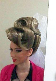 Her Hair 17 Effortless Cool Fancy Hairstyle Tutorial French Twists, # . Braided Hairstyles Updo, Sleek Hairstyles, Headband Hairstyles, Vintage Hairstyles, Girl Hairstyles, Blonde Updo, Natural Hair Transitioning, Transitioning Hairstyles, French Twist Hair