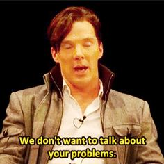 Benedict's response to a fan telling him that they read Machiavelli for fun. gif