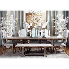 Z Gallerie is THE furniture/art store that carries designs closest to my tastes, including this dining set.