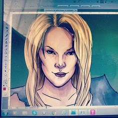 #illustration #Wip #art #Photoshop  Just doodling in the morning- letting the brain warm up! :P Inking on photoshop is a lot harder then on MS EX4!