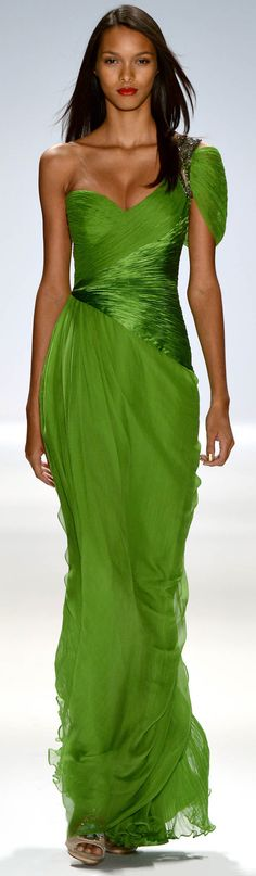 Runway Fashions from Carlos Miele Spring Summer 2013 Ready-To-Wear Collection. This color is beautiful!