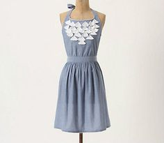New Anthropologie Fluttered Chambray Apron #Anthropologie