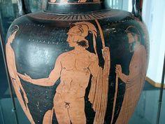 Amphore à figures rouges, INV. 571, Museo Sigismondo Castromediano di Lecce - Puglia