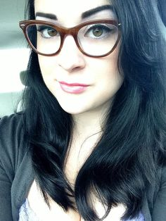 """""""got some new glasses! Welcome the cat eye frame. I absolutley love them"""""""