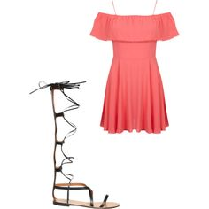 A fashion look from March 2015 featuring Miss Selfridge dresses and Valentino sandals. Browse and shop related looks.