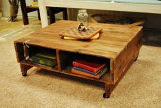 Pallet Coffee Table by MyFavoriteThingsShop on Etsy, $275.00