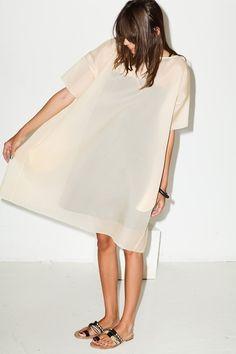 silk oversized tee dress