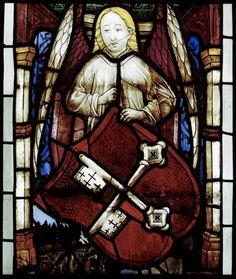 Engel mit dem Wappen des Bistums Brandenburg, Brandenburg a. d. Havel (Brandenburg), Dom, St. Peter und Paul, 1460/65.