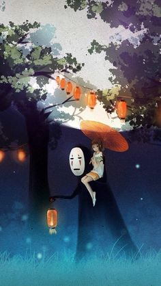 Anime girl art ghibli spirited away