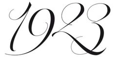 Parfait script - numbers. From MyFonts.com, via WeLoveTypography.