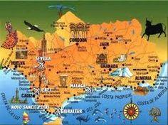 Mapa de las atracciones de Andalucía y sus ciudades