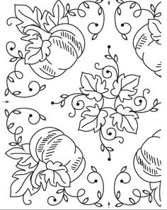 Free Pumpkin Harvest Embroidery Pattern