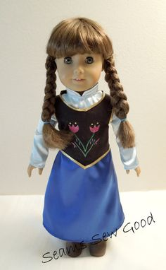 "American Girl Doll or 18"" Doll Anna from Frozen Dress"